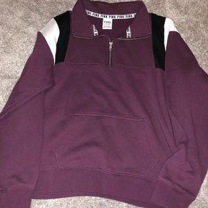 ***BRAND NEW*** pink half zip sweatshirt